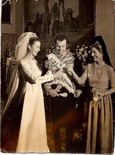 Infante Alfonso, Duke of Anjou and Cádiz and María del Carmen Martínez-Bordiú y Franco