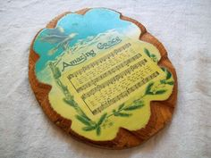 Vintage Religious Plaque Amazing Grace Wood by VintagePlusCrafts, $5.00