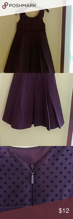 Gymboree Girl's Holiday Dress Deep purple dress with velvet waistband. Large pleats in the front. New with tags. Bought a few years ago. Never worn. Cleaning out my daughter's closet. Gymboree Dresses