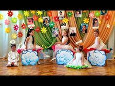 "Начало утренника 8 Марта. ДОУ №8 ""Малыш"", г.Шахтёрск - YouTube School Decorations, Kindergarten, Youtube, Frame, Kids, Painting, Home Decor, Mother's Day, Sunflowers"