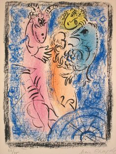 Available for sale from Masterworks Fine Art, Marc Chagall, Le Bouquet Bleu (The Blue Bouquet) Color Lithograph, 29 × 22 in Marc Chagall, Pablo Picasso, Chagall Prints, Chagall Paintings, Catalogue Raisonne, Blue Bouquet, Exhibition Poster, Art Database, Art Moderne
