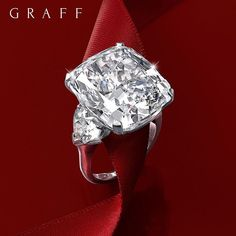 Eternal admiration: Something beautiful and unique for your unique beauty – a one of kind 23.55 carat D Internally Flawless cushion cut diamond ring. #GraffDiamonds #DiamondRing #ValentinesDay #Love #CushionCut