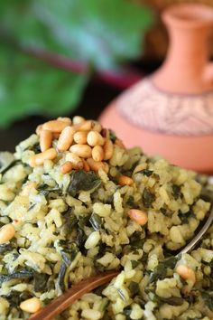 Filling, nutritious, and aromatic Swiss Chard Rice Pilaf is a great ...