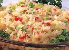 Bavarian Sauerkraut Salad as they make it Bavaria for Oktoberfest and other festivities. You need Sauerkraut and some vegetables, that's…