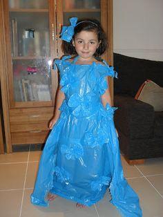 Hacemos un original y barato disfraz de princesa como bolsas de basura ~ Olvídate de la crisis