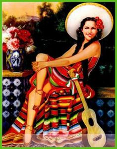Mexican Calendar Girls the golden age of calendar art: 1930-1960 wonderful history and pictures book by the author Angela Villalba