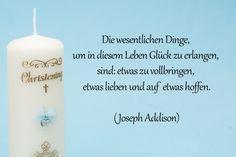 Taufspruch von Joseph Addison