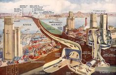 27 Cutaway Drawings That Show All the Secrets of Buildings Sidney Street, Liverpool Life, Liverpool Skyline, Architecture Visualization, Southport, Most Beautiful Beaches, Cutaway, Time Travel, Britain