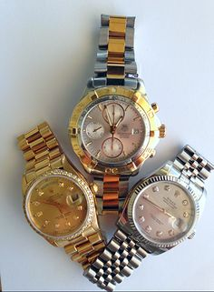 f78dfacab1 I can't choose, Silver Rolex or Gold Rolex? Or both in a Tag Heuer? Boca  Raton Pawn