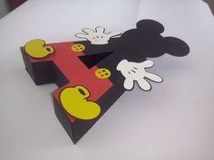 Letras 3d Decoradas Do Mickey - Feitas Em Papel - R$ 4,50 em Mercado Livre