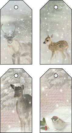 Woodland creatures labels