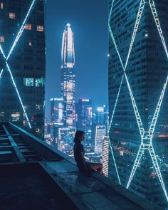 A collection of cyberpunk, art, bikes, cars, noir and other stuff I like Arte Cyberpunk, Cyberpunk Aesthetic, Cyberpunk City, Futuristic City, City Aesthetic, Blue Aesthetic, Futuristic Architecture, Aesthetic Backgrounds, Aesthetic Wallpapers