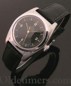 1940s steel vintage Rolex 'Bubbleback' watch (3898) - Olde Timers
