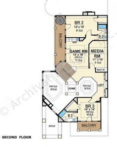 Villa Zeno House Plan - Coastal Floor - House Plan - Villa Zeno House Plan Second Floor Plan