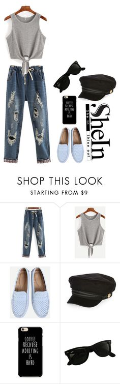 """A beautiful pair of jeans"" by samaramahone1d ❤ liked on Polyvore featuring WithChic, River Island and Ray-Ban"