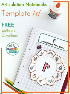 Try this FREE articulation activity for kids! You can use the template with images for non readers & the editable download file for students at the writing level.