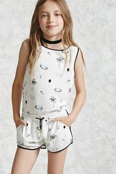 Girls Balloon Print Shorts (Kids)