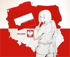"Polska by ~Sad-SD on deviantART ""Would Mr. Polski like to fight. Poland Hetalia, Tak Tak, Hetalia Fanart, Hetalia Characters, Fandom, Valley Girls, A Series Of Unfortunate Events, Historical Art, Axis Powers"