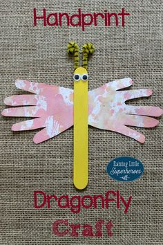 A Handprint Dragonfly Craft is an easy and fun art project for children to make. It is also a great way to teach your kids about nature and create handprint crafts that you will treasure.