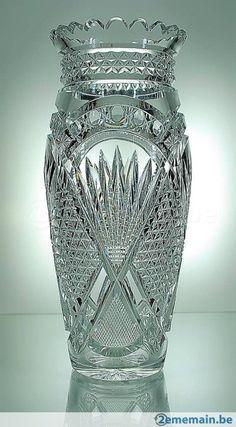 Val St Lambert - Vase 'Andover' - années 20 - VSL - A vendre