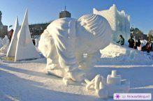 Sneeuwsculpturen 14
