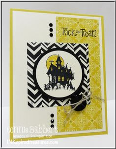InkspiredTreasures.com, Best of Halloween, Haunted House, Trick or Treat, Connie Babbert, Stampin Up