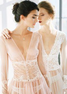 Blush rose/ivory boudoir dress Blanca&Rouse/Boudoir dress/Tulle boudoir gown/Boudoir gown/Blush rose boudoir gown