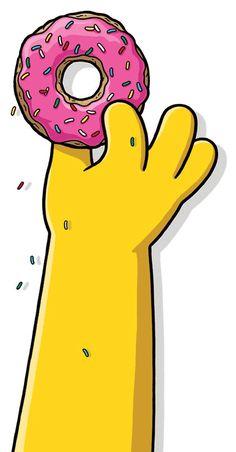 The Simpsons Homer grabbing his pink doughnut cartoon clipart pop culture Simpsons Donut, The Simpsons, Simpsons Party, Cartoon Wallpaper, Simpson Wallpaper Iphone, Iphone Wallpaper, Homer Simpson Donuts, Bart Simpson, Wallpaper Iphone Disney
