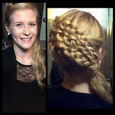 Come get your hair done at Dosha Hawthorne by Paige!!! She amazes me every time. @paigelcroft #Braids #Weddingupdo #Dosha #ThePortlandBridalShow