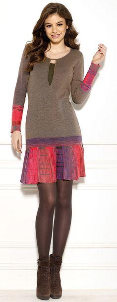 Diktons mosaic check jacquard dress