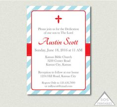 Dedication Invitation baptism Invitation by SOSPrintables on Etsy
