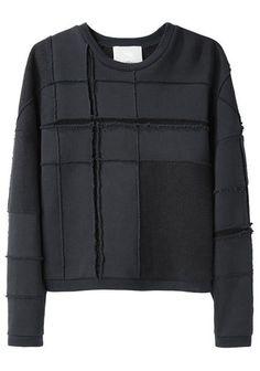 3.1 Phillip Lim   Tromp L'Oeil Plaid Sweatshirt   La Garçonne