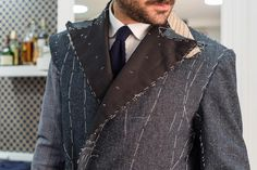 #Madewith Mazzini 11 - Giorgio Giangiulio has chosen Mazzini 11 denim fabric for a special tailored coat. We are looking forward the final result: as for now, we do enjoy these backstage pictures.