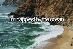 happiest by the ocean. cant wait to get down there to see the damage hurricane sandy caused my jersey shore.