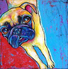 Pug - Original Fine Art for Sale - © by Stephanie Gerace