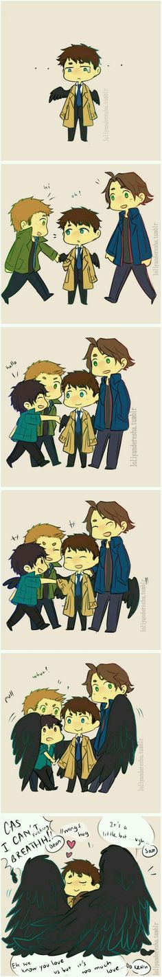 Because he is Castiel  ❤
