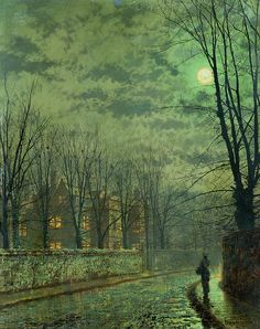 Going Home By Moonlight Art Print by John Atkinson Grimshaw.  All prints are professionally printed, packaged, and shipped within 3 - 4 business days. Choose from multiple sizes and hundreds of frame and mat options.