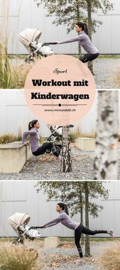 Sport with baby: a small workout with a stroller - Mini & .-Sport mit Baby: Ein kleines Workout mit Kinderwagen – Mini & Stil Exercise with baby after pregnancy: exercises for your workout with a stroller - Pregnancy Months, After Pregnancy, Pregnancy Tips, Baby Workout, Pregnancy Workout, Fitness Workouts, Baby Care Tips, After Baby, Baby Health