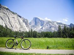 Ride bikes in Yosemite. It's one of the best ways to see the valley. Yosemite has 12 miles of paved bike paths within the valley.
