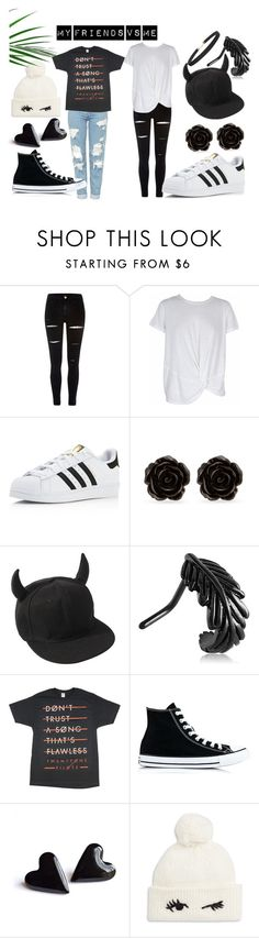 """""""My friends style vs mine"""" by scarletheart402 on Polyvore featuring River Island, MINKPINK, adidas, Erica Lyons, Converse, Kate Spade and Humble Chic"""
