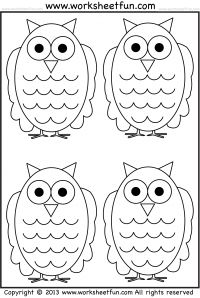 owl tracing and coloring 4 halloween worksheets printable worksheets preschool worksheets. Black Bedroom Furniture Sets. Home Design Ideas