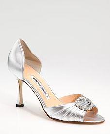 Silver d'Orsay heels a la Carrie Bradshaw, by Manolo Blahnik