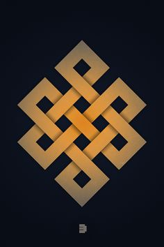 The Endless Knot  One of the eight auspicious symbols of Buddhism by Enkhtuvshin Ts, via Behance