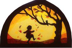 Primary School Art, Waldorf Crafts, Shadow Puppets, School Art Projects, Window Art, Autumn Activities, Walking In Nature, Teaching Art, Paper Cutting