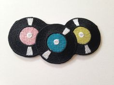 Vinyl Records Iron on Patch