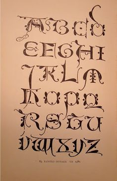 """BIBLIOTYPES: LEWIS F. DAY. """"Alphabets Old & New"""" Calligraphy Letters Alphabet, Calligraphy Fonts, Caligraphy, Lettering, Walter Crane, Graffiti Alphabet, Alphabet Art, Painted Initials, Book Of Kells"""