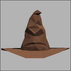 ハリーポッター・組み分け帽子のペーパークラフト無料正面展開図・似顔絵