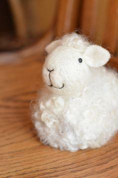 Lamb needle felted by Teresa Perleberg
