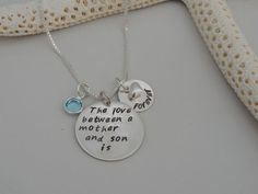 The love between a mother and son is forever Necklace - Hand Stamped - FREE SHIPPING on Etsy, $58.99