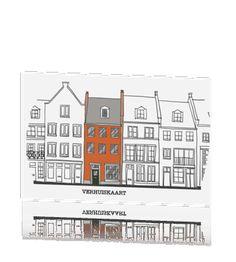 Verhuiskaart met illustratie en aanpasbare tekst #verhuiskaartje #verhuiskaart